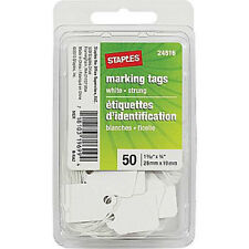 Stationary - Avery 50 White Marking Sales Tags w-String - 1 3/32in x 3/4in 13024