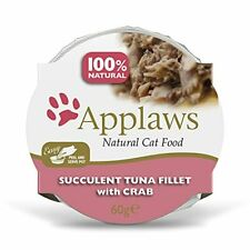 More details for applaws 100 percent natural wet cat food pot, tuna with crab in 60 g pots (pack