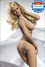 Phicen 1/6 Female Seamless L Bust SUNTAN Figure Body w/ HEAD & BIKINI set