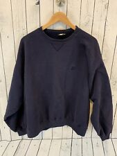 90s VTG Starter Blank Navy Blue Crewneck Sweatshirt