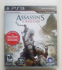 Assassin's Creed III 3 Sony PlayStation 3 PS3 GAME COMPLETE AMERICAN COLONIES