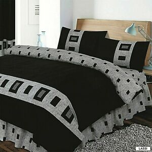 4Piece PCS Complete Bed Set Duvet Cover Set Fitted Sheet,single,double,king size