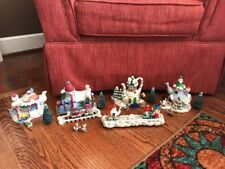 Vintage Sears Lighted Teapot Village Christmas Merry Making Mice in Box