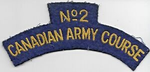 Canadian Army Course No.2 cloth patch - 13.5x6cm
