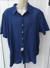 Ralph Lauren Mens denim indigo oxford shirt s/s xxl nwt $85 button front