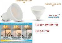 FARETTO FARO LED 3W 5W 7W MR16 GU10 GU5.3 12V 220V V-TAC LAMPADA LAMPADINA BIANC