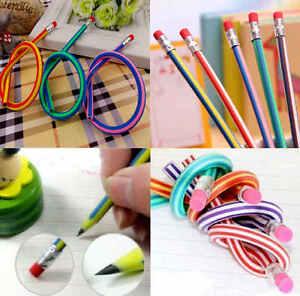 Soft Flexible Bendy Pencils 30cm Magic Bend Kids Fun Equipment