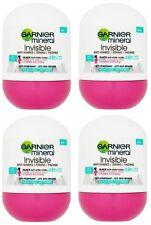 4x Garnier Mineral Invisible BWC Fresh Anti-perspirant Deodorant Roll on Women