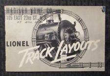 1937 LIONEL TRAINS Track Layouts 24pg Booklet VG 4.0 Railroad