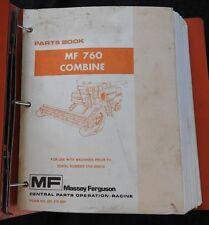 1978-1989 MASSEY FERGUSON MF 760 MF760 COMBINE PARTS CATALOG MANUAL VERY GOOD