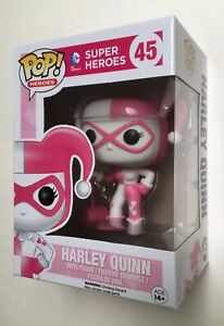 DC COMICS POP VINYL HARLEY QUINN Pink & White #45 FUNKO MIB + protector