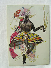 "Postkarte Leon Bakst ""Costume pour le Dieu Bleu"" 1922 Galeria del Levante Milano"