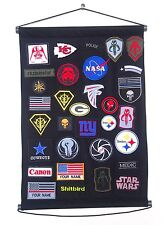 Morale Patch Holder Board Display Wall Door Hanging Display Frame 16.5 X 23 ""