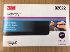 3M 2022 Wetordry Abrasive Micro Fine Sandpaper 5-1/2x9 Inch 1200 Grit 02022