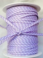 1/8 Inch Solid / Diagonal Stripes Ribbon lilac-price for 3 yards