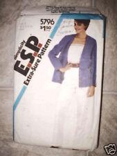 5796 Vintage Simplicity Pattern Pants Camisole Jacket
