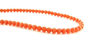 Cats Eye Fiber Optic Chinese Orange 4MM  Beads 4CE04