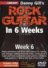 Lick Library Danny Gill's Rock Guitarra En 6 Semanas aprender a jugar Van Halen Dvd 6