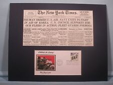 Truman decides for the US to defend  Korea & First Day Cover of Korean War stamp