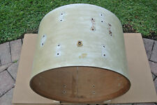 "60's Ludwig CLASSIC 20"" WHITE MARINE PEARL BASS SHELL + BADGE for DRUM SET! F108"