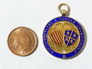 1951 Gilt Silver Northumberland & Durham Fob Medal Badge #X22