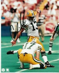 Chris Jacke Signed 8x10 Color Photo Green Bay Packers
