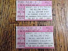 2 Original ROLLING STONES Concert ticket stubs FOXBORO STADIUM, MA. 10/21/97