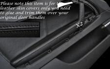 Negro Stitch 2x Frontal Manija De Puerta Apoyabrazos tapa se ajusta Audi A3 8p S3 03-12 3 Puertas