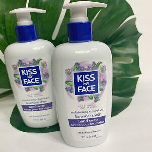 2 x KISS MY FACE Liquid Hand Soap Lavender Shea Moisturizing Calm Clean 27oz NEW