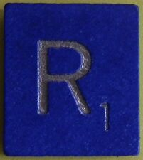 Single Scrabble Blue Wood Letter R Tile One Only Replacement Game Part Pieces