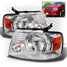 For 04-08 F150/LOBO, 06-08 Mark LT Chrome Headlights Assembly Replacement LH+RH