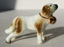 New ListingSaint Bernard Dog Figurine Miniature Bone China Hand Painted-Vintage Adorable