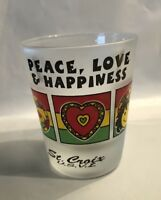 St.Croix US Virgin Islands peace Love And Happiness Caribbean Shot Glass