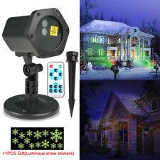 Moving LED Laser Projector Light Landscape Star R&G Xmas Halloween Outdoor Lamp
