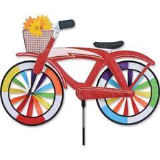 """30"""" Red Classic Cruiser Bike Spinner, Whirligig, Garden Stake by Premier Design"""