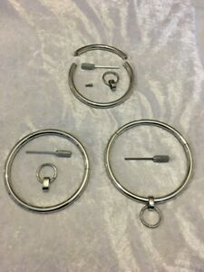 """stainless steel large Round Collar With Re O ring 15""""16""""17"""" 18""""19""""gay /cosplay"""