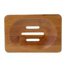 Natural Bamboo Wooden Bathroom Shower Soap Tray Dish Storage Holder Plate Hot
