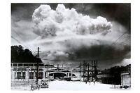 Nagasaki Atomic Bomb Blast PHOTO Japan Ground Level, Fat Man Nuclear Detonation