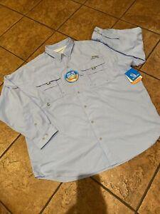 Men's Columbia Omni Shade PFG Button Front Shirt, New, XXL