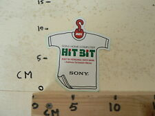 STICKER,DECAL SONY  HOME COMPUTER HIT BIT MSX BUILT IN PERSONAL DATA BANK SHIRT