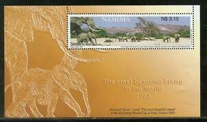 Namibia 2003 Elephants at Hoarusib River MS MNH, desert