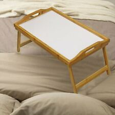 Large Bamboo Serving Bed Breakfast Food Dinner Lap Serving Tray with Folding Leg