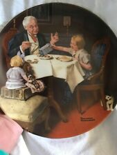 Vtg Edwin M. Knowles The Gourmet Norman Rockwell #12304E Collectors Plate, Coa