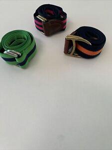 New. Ralph Lauren Polo D Ring Ribbon Belt. Set Of 3. Small. Set250 Retail Value.