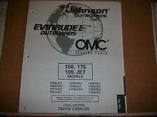 EVINRUDE OUTBOARD MOTOR BOAT ENGINE 150, 175 105 JETMODELS Illust. parts