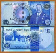 Tonga, Kingdom, 10 Pa'anga, ND (2015), P-46, UNC > Redesigned, New King