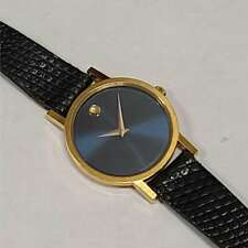 Movado Ladies Museum Blue Dial Leather Band Watch 87.23.832 W/ Box MVD3S