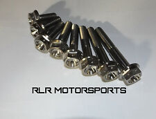 Titanium bolts classic flange head motorsport Drilled M8x35mm