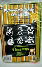 Halloween pumpkin carving stencil kit 6 stencils and scoop carver drill 8 and up