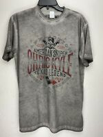 Affliction Short Sleeve T-Shirt CHRIS KYLE Mens Gray